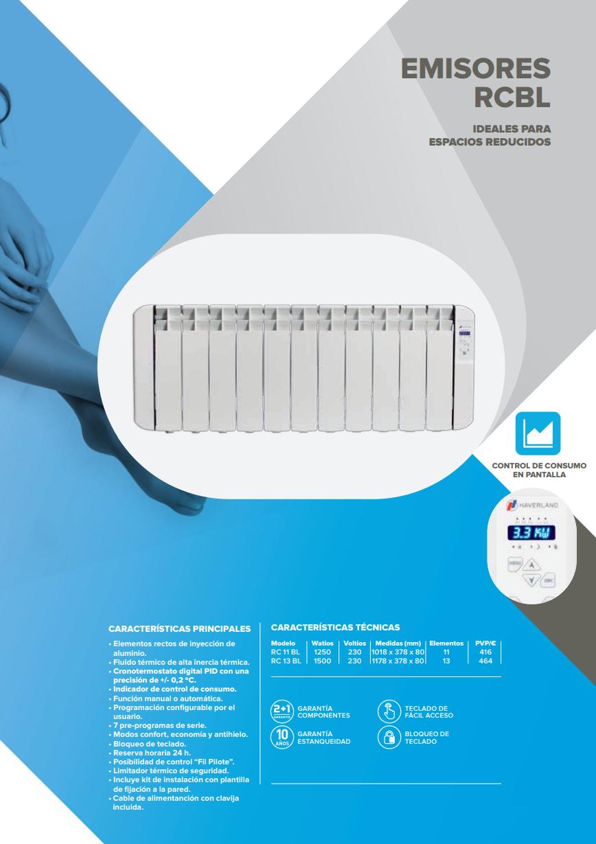 1500w wifi rc 111bl emisor t rmico haverland - Consumo emisores termicos ...