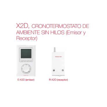 X2D Cronotermostato de ambiente sin hilos. ( Emisores y receptores) de Elnur Gabarrón