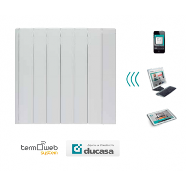 750 w iEM 3G WIFI Ducasa. Emisor térmico domótico de bajo consumo 6 elementos
