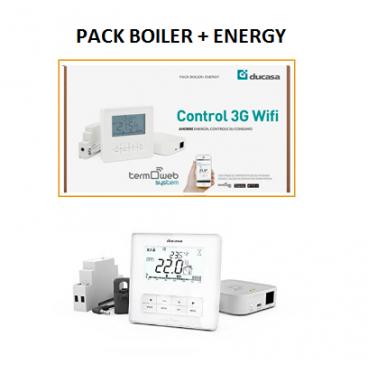 BOILER + ENERGY- Kit DUCASA para control wifi de calefacción a gas ( Calderas )