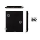 i300 Plus Wifi negro. Emisor térmico Newatt de bajo consumo 300 - 600 w