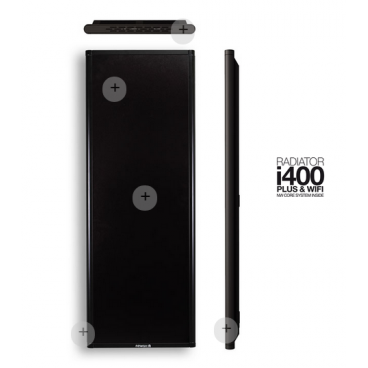 i400 negro. Emisor térmico Newatt de bajo consumo 400 - 800 w