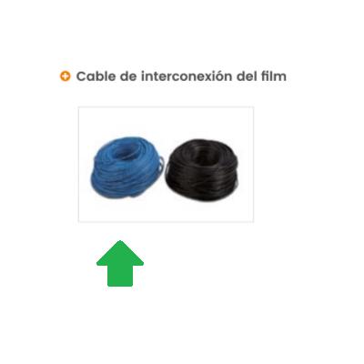 Azul - cable de doble aislamiento Film radiante
