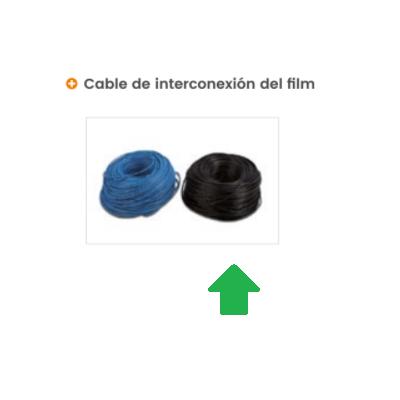 Negro - cable de doble aislamiento Film radiante