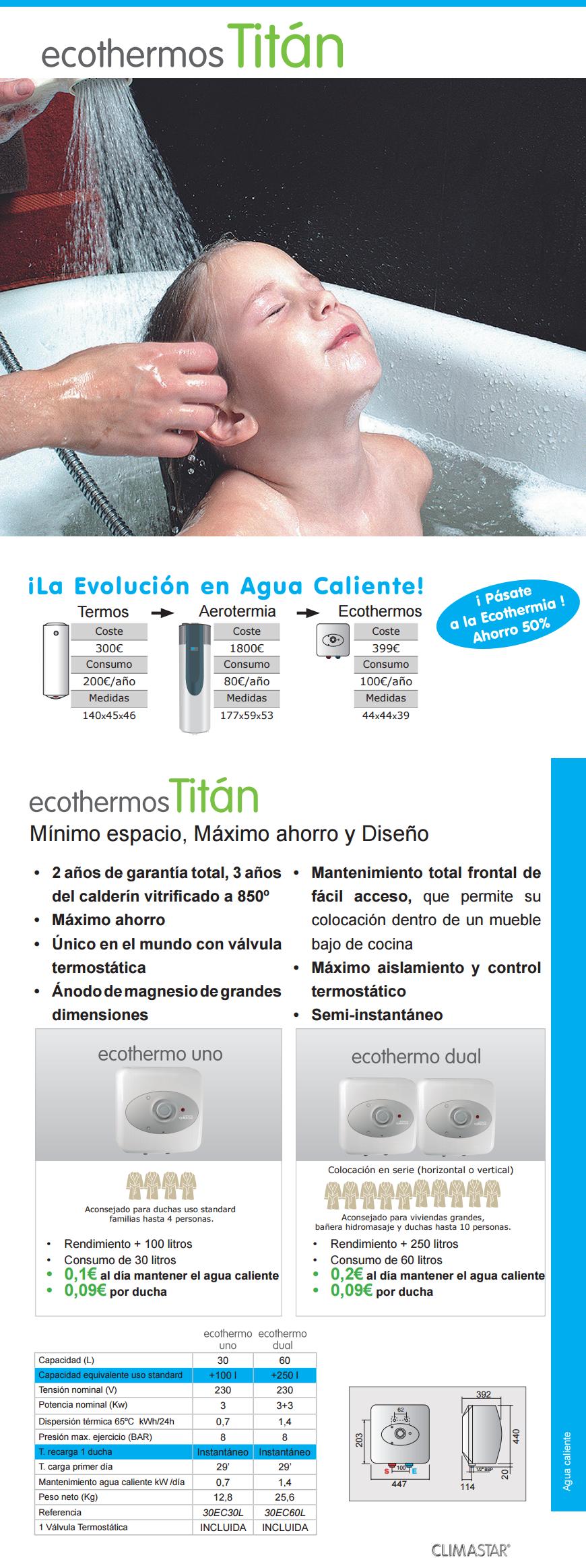 Termo de bajo consumo climastar titan - Sistemas de calefaccion bajo consumo ...