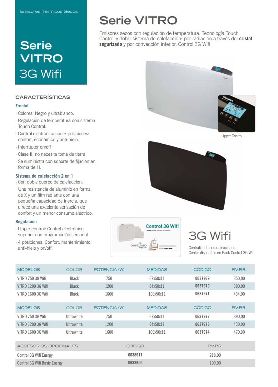 Ducasa vitro 3g wifi ducasa emisor t rmico dom tico de - Consumo emisores termicos ...