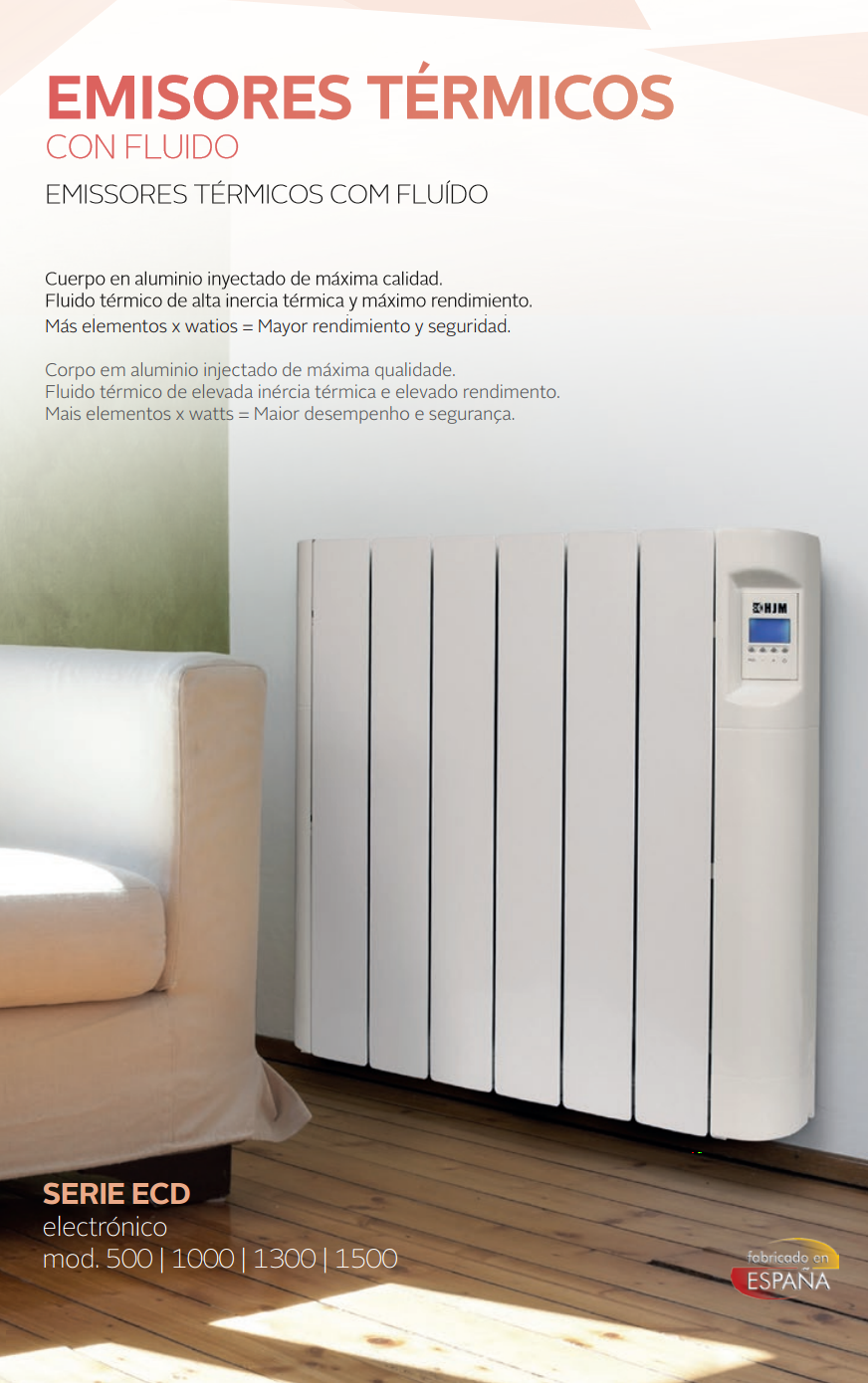 Emisor t rmico de bajo consumo hjm modelo ecd - Consumo emisores termicos ...