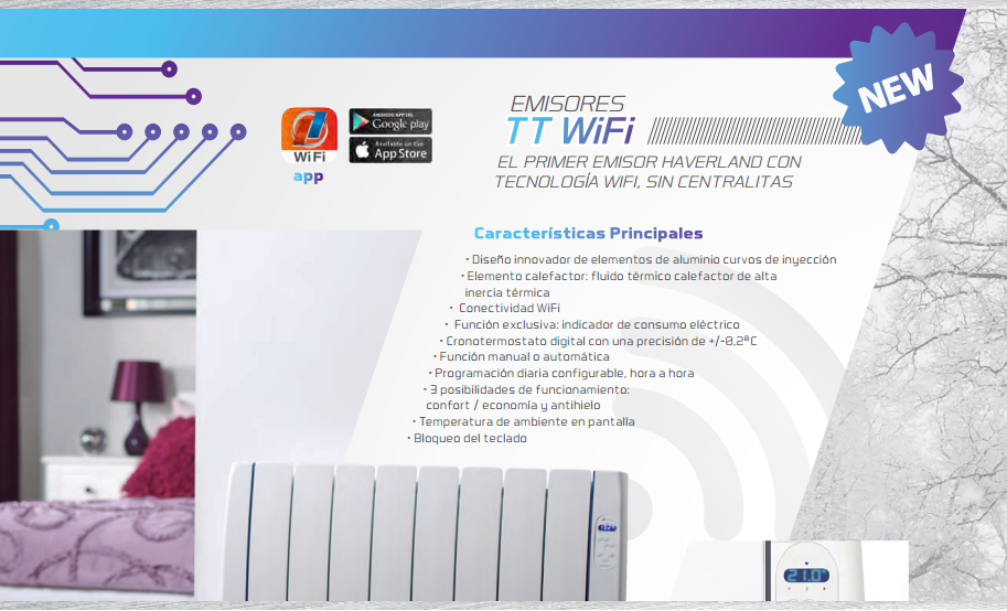 Haverland rctt wifi emisores t rmicos informaci n - Emisores termicos electricos ...