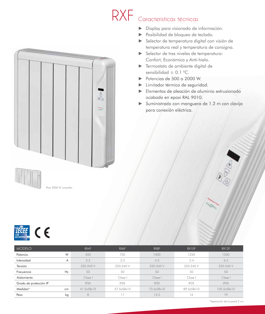 Radiador electrico de bajo consumo elnur gabarron - Emisores termicos electricos ...